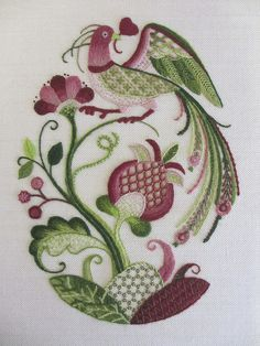 Madoka S by Royal School of Needlework @ Hampton Court Palace, via Flickr.    Beautiful crewel work from the Royal School of Needlework.