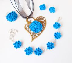 Jewelry sets, polymer clay for woman by Monybijoux on Etsy