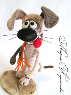 РуЧки♥КрюЧки. Вязание. Игрушки крючком. | VK Crochet Animal Amigurumi, Amigurumi Toys, Crochet Animals, Crochet Toys, Crochet Dog Patterns, Amigurumi Patterns, Doll Patterns, Crochet Humor, Stuffed Toys Patterns