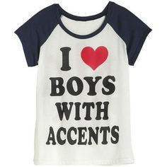 I ♡ boys with accents sports shirt