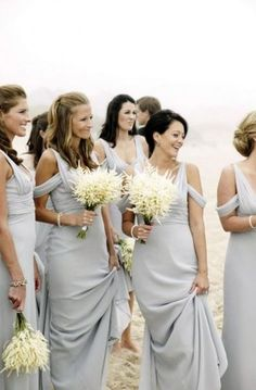 53 Cool Beach Bridesmaids' Dresses | HappyWedd.com