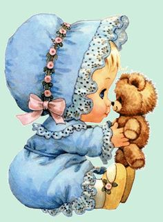 Digi stamps - by Ruth Morehead Clipart Baby, Cute Clipart, Images Vintage, Vintage Pictures, Vintage Cards, Cute Images, Cute Pictures, Art Mignon, Decoupage Vintage