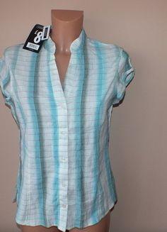 Kup mój przedmiot na #vintedpl http://www.vinted.pl/damska-odziez/koszule/11875167-niebieska-koszula-w-krate-nowa-z-metka-george-38-10-m