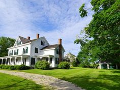 PICTURE PERFECT 1880 VICTORIAN FARMHOUSE SET ON 2 ACRES BORDERED BY CONSERVED FARMLANDS.