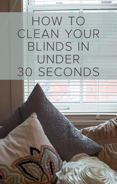 Hate trying to figure out how to clean both sides of your blinds without getting tangled up between the slats? This trick is for you.