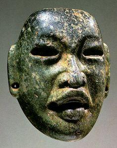 Mascara de jade olmeca