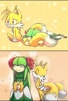 Tails and flowers. by Cheroy.deviantart.com on @DeviantArt