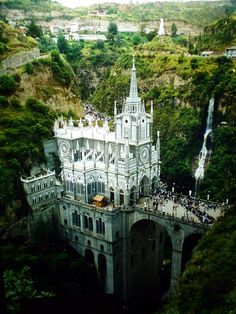 Las Lajas Cathedral - this is a real place. WOW! {Photographed by Travel Blogs by Nicorach}