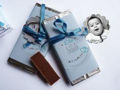 faire-part baptême mini tablette chocolat par latelierinspire