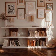 Home Design Decor, Interior Design Living Room, Living Room Decor, Bedroom Decor, House Design, Art Decor, Book Shelf Bedroom, Condo Design, Bedroom Retreat