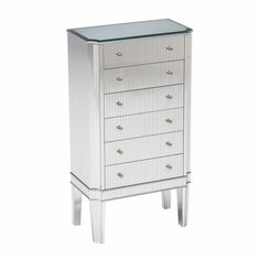 Jewelry Cabinet w/ 6 Drawers #JewelryArmories #JewelryCabinet #bedroomfurniture #HomeDecor #InteriorDesigner #HomeDecorating #interiordesign #furniture #efurnituremart #HomeDecorator #decor #roomdecorating - eFurnitureMart, eFurniture Mart