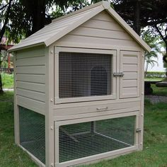 New Age Pet Huntington Townhouse Rabbit Hutch, Tan