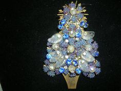 Early Spectacular Stanley Hagler Christmas Tree Brooch Pin
