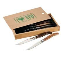 [1250-37] Laguiole® 6 Piece Array Steak Knife Set - Leed's Promotional Products