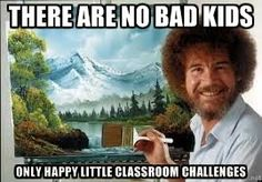 Oh, Bob. The eternal optimist who taught us all how to paint!  #teacherlife