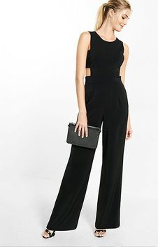 Express Open Back Wide Leg Jumpsuit, $88, available at Express. #refinery29 http://www.refinery29.com/best-fast-fashion-clothing-staples#slide-16