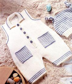 Orgel-Barett-saisonal-Shorts-Taschen-salopet - - Pattern for Working Vehicle Sweaters - Children's pu Baby Knitting Patterns, Baby Boy Knitting, Knitting For Kids, Crochet For Kids, Baby Patterns, Knitted Baby, Baby Pullover, Baby Cardigan, Crochet Baby Pants