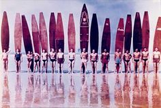 1960 Jersey Surf Club / photo by Roger Mansfield/Taschen Best Surfboards, Vintage Surfboards, Surf Vintage, Surf Competition, Barcelona, Hawaii Surf, Sport Of Kings, Sup Surf, Learn To Surf