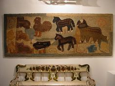 A Rare and Important Hooked Rug | Olde Hope Antiques