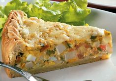 Torta de palmito- my mom makes this for me :) I Love Food, Good Food, Yummy Food, Vegetarian Recipes, Cooking Recipes, Healthy Recipes, Quiches, Tortillas Veganas, Cream Crackers