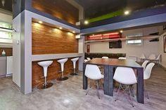 Salle des employés - cafétéria Architecture, Decoration, Furniture, Home Decor, Bespoke Furniture, Room, Arquitetura, Decor, Decoration Home