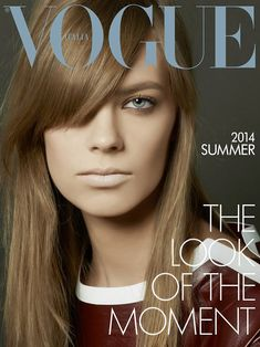 Vogue Italia defines model Lexi Boling as the look of the moment. With a somewhat retro-feel styled by Karl Templer, she reminds me of a young Françoise Hardy. Her single process honey blonde hair with a long, Vogue Magazine Covers, Fashion Magazine Cover, Fashion Cover, Vogue Covers, Italy Magazine, Magazine Mode, Vogue Korea, Vogue Japan, Best Fashion Magazines