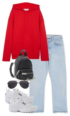 """Untitled #5658"" by theeuropeancloset on Polyvore featuring Balenciaga, Fila and Alexander Wang"