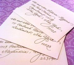 Different ways to address envelopes