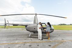 Daniel pops the question to Nia in front of a helicopter at Kissimmee, Florida's MaxFlight helicopters Proposal Photography, Orlando Florida, Helicopters, Fighter Jets, Orlando