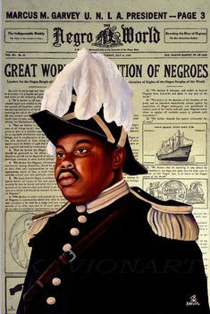 Marcus Garvey, Black History Facts, Black History Month, Black Panthers Movement, Pan Africanism, Reggae Artists, African Royalty, Black Art Pictures, Lion Of Judah