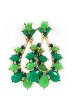 Lamire Teardrop Earrings in Paris Green by hester