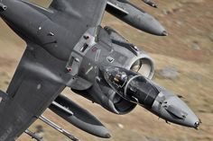Fifty shades of grey ;) Royal Air Force Harrier GR9 #air #plane #aircraft #flight #force #military #weapons #jet #fighter #bomber #wales #royal #harrier #gr9 #lfa7