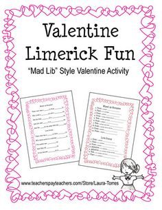 Valentine Limerick Fun - Re-pinned by @PediaStaff – Please Visit http://ht.ly/63sNt for all our pediatric therapy pins