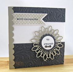 Neutral card using neutrals  of white, grey and sand. However, this design could be made for many occasions with a change of colour scheme