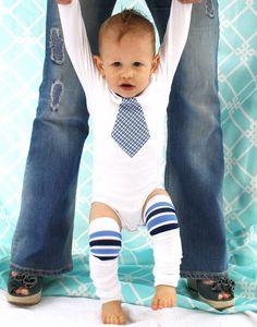 Baby Boy Valentine Gift Set of 1 Tie Onesie by ChicCoutureBoutique, $24.95