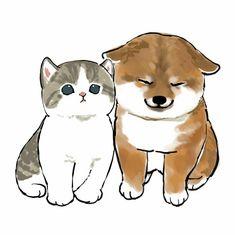 Cute Dog Drawing, Kitten Drawing, Cute Animal Drawings, Animal Sketches, Cute Little Kittens, Kittens Cutest, Cute Cats, Art Drawings For Kids, Cat Wallpaper