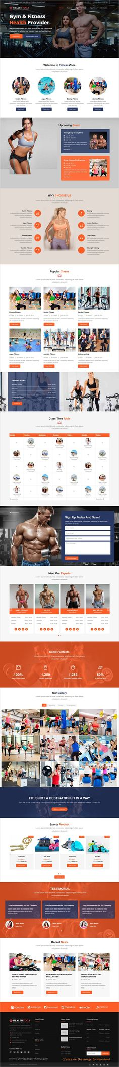 Health Yoga is clean and modern desing responsive #HTML template for yoga, #gym, #fitness and beauty spa and wellness centers website to download click on image.