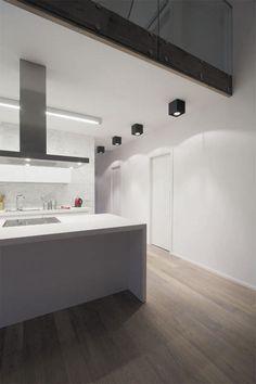 Spot de plafond / halogène / carré / orientable HUNTER C by Gigodesign Intra…