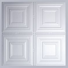 These faux tin ceiling tiles are ready to drop right into an existing grid system. Made of durable yet lightweight PVC, these sag resistant tiles also carry an acoustical value! Plastic Ceiling Tiles, Faux Tin Ceiling Tiles, Wall Tiles, Ceiling Grid, Ceiling Panels, Color Tile, Basement Remodeling, Home, Tin Ceilings
