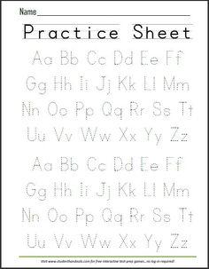 Free Printable Handwriting ABC Worksheet