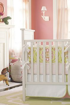 Such a beautiful nursery! I'm so in love with that wall color!