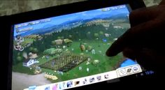 Farmville 2 and Angry Birds on a Windows 8 Tablet