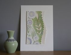April Flowers Mini Papercut Gift Art Piece £26.00