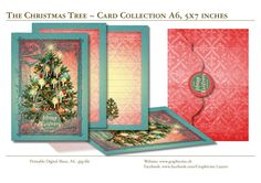 THE CHRISTMAS TREE - Card Collection - Printable Digital Sheets for DIY printing! #scrapbooking, #cardmaking, #digital, #cards, #cardcollections, #christmas, #holiday, #season, #greetingcards, Christmas Tree Cards, Christmas Holiday, Diy Printing, Design Studio, Grafik Design, Love Cards, Print And Cut, Diy Paper, Paper Design