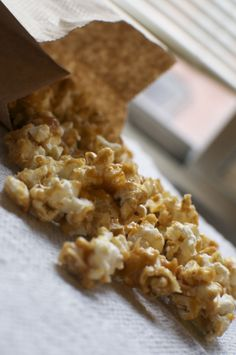Peanut Butter Caramel Popcorn[[MORE]] — When I go host parties, I normally serve caramel popcorn for my guests to snack on throughout ...