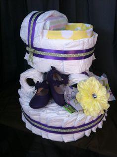 Craddle diaper cake