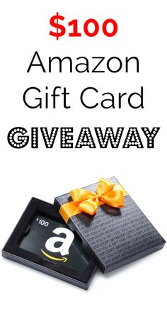 Enter to win our $100 Amazon Gift Card Giveaway!!!