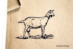 Goat Rubber Stamp