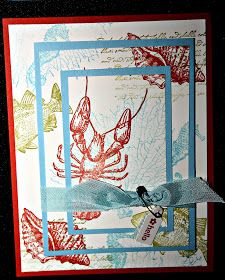 The Pursuit of Stampin'ess: By the Tide sea life - ocean Stampin Up cards