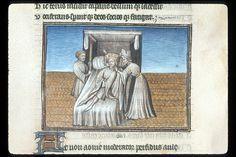 Publius Papinius Statius Thebais , with the argumenta antiqua; Achilleis, Francja, ok. 1405, f36